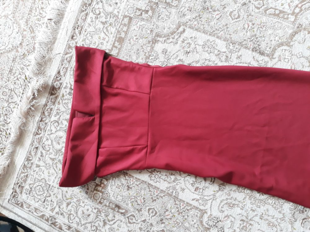 Robe long rouge Bordeaux tree chic