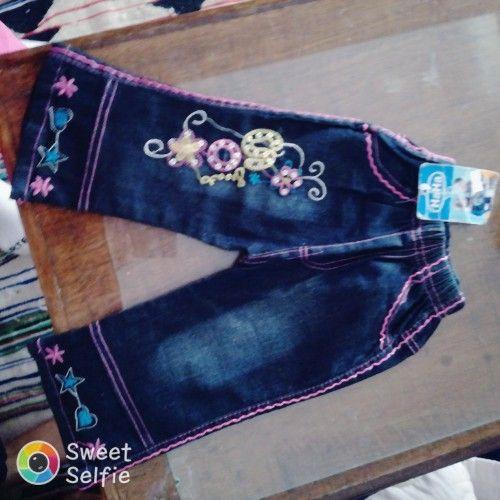 Pantalon jeans avec broderie
