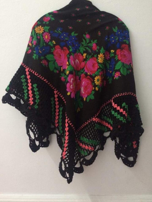 Châle foulard fait main