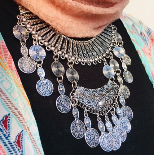 collier argent tunisien