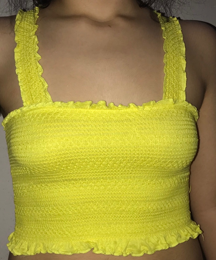 Top jaune flashy