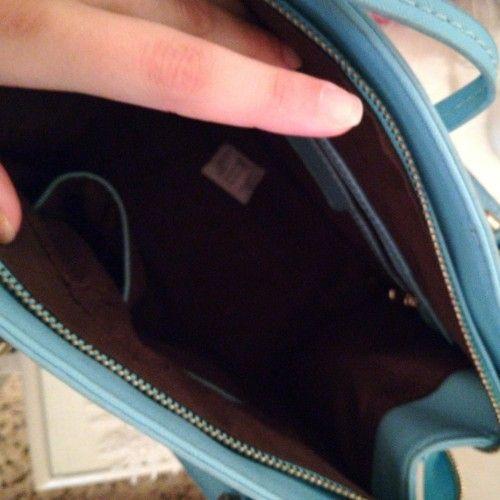 Petit sac bleu turquoise