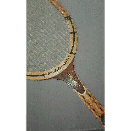 Raquette de tennis Rossignol en bois à bas prix
