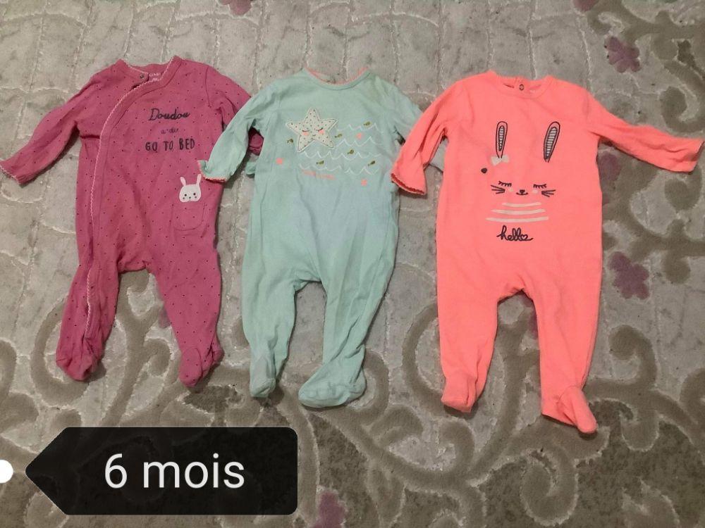 Trois grounieres pour bébé de 6 mois