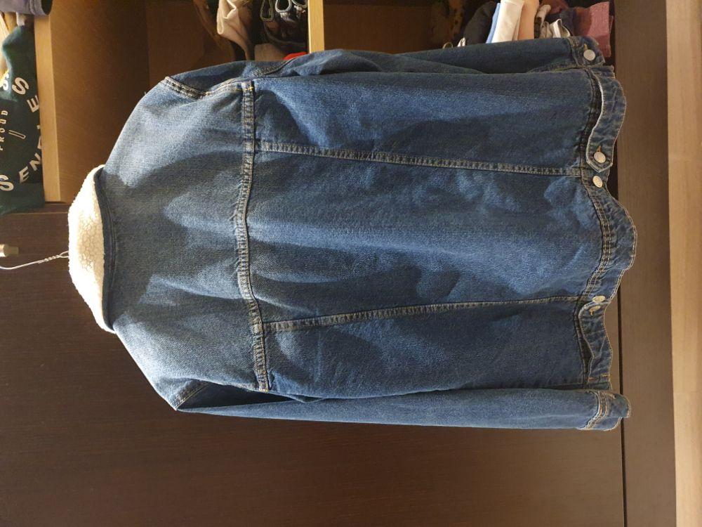Gilet jeans doublure moutoun