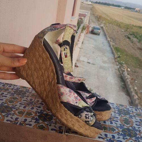 Sandales compensé tommy hilfiger fleurie