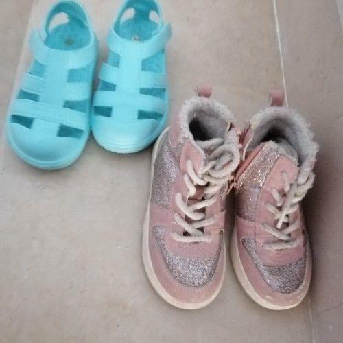 Lot 24/25...baskets h&m pointure 24 et sandales bleues 25