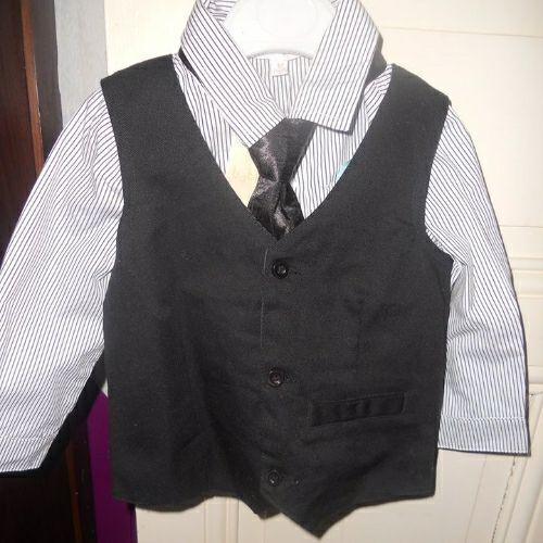 Ensemble neuf mois chemise+ cravate + gilet
