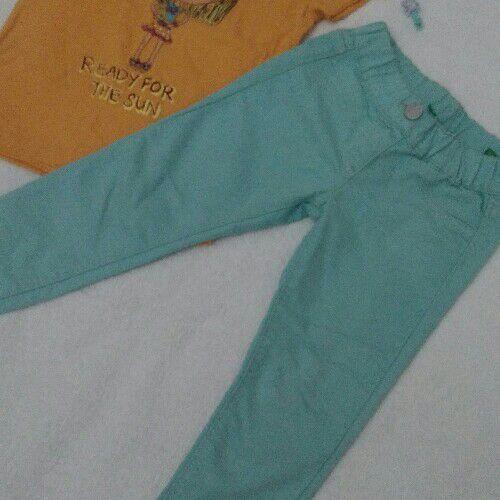 Pantalon turquoise
