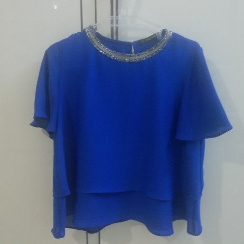 Top ZARA bleu neufffffffffffffffffff taille M en très bon état ttttttttttttttttttttttt