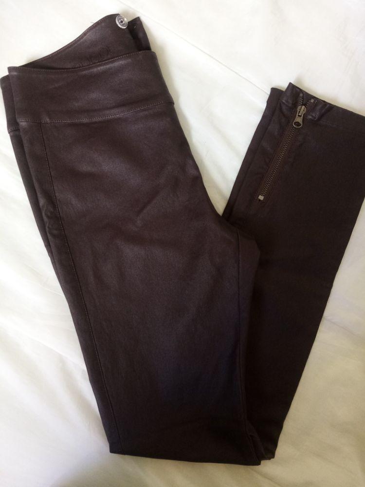 Pantalon semi cuir marron
