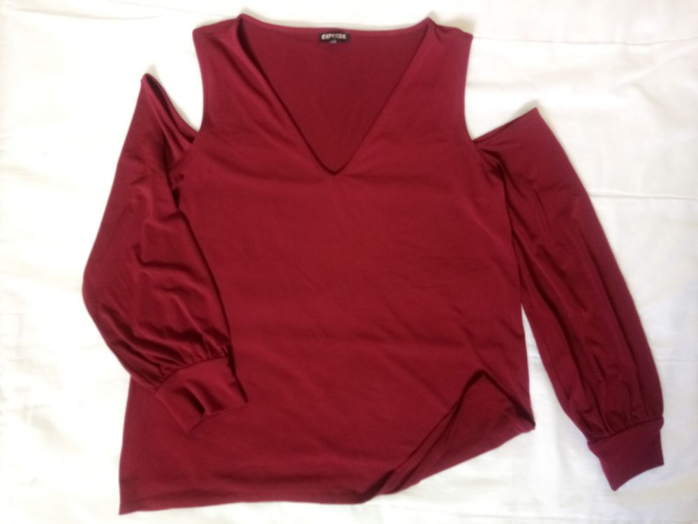 Pull rouge bordeau