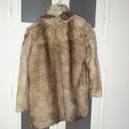 Manteau vrai fourrure