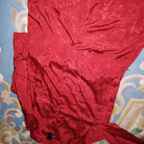 Pijama satin rouge
