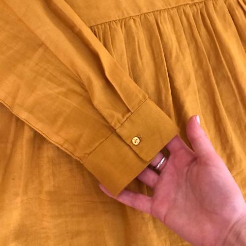 Chemise jaune moutarde