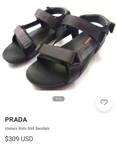 Prada unisexe sandales pointure 31 authentique