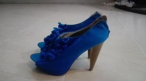 Chaussures talon bleus