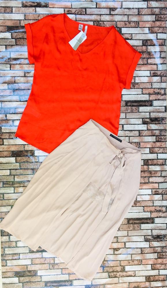 Jupe ZARA et chemise Mango