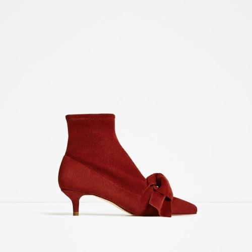 ZARA bow boots