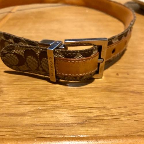 Coach logo belt