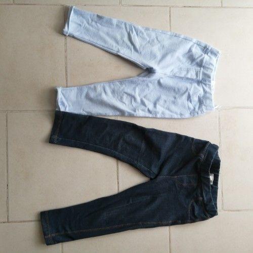 2 legging pour filles de 18 mois max