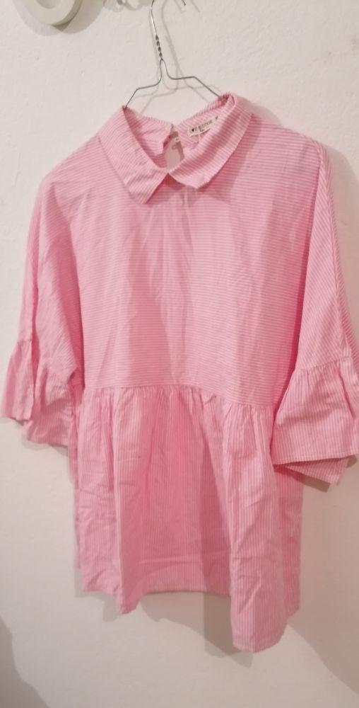 Chemise rose blanc