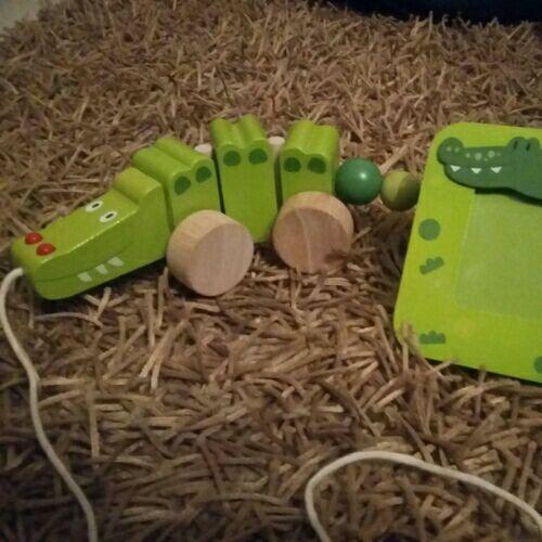 Set jouet en bois avec cadre pour photo assorti