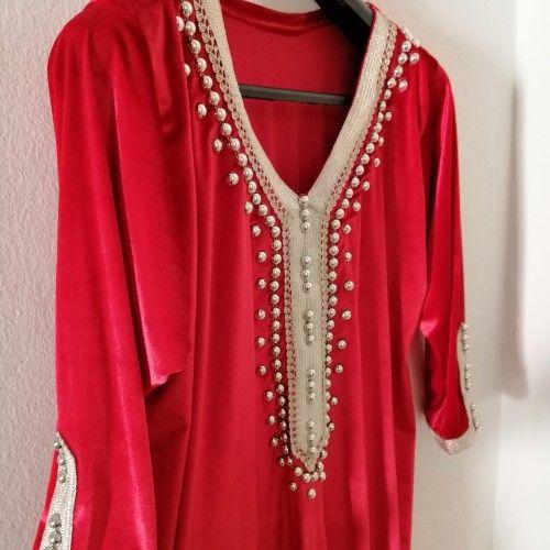 Robe longue en velour