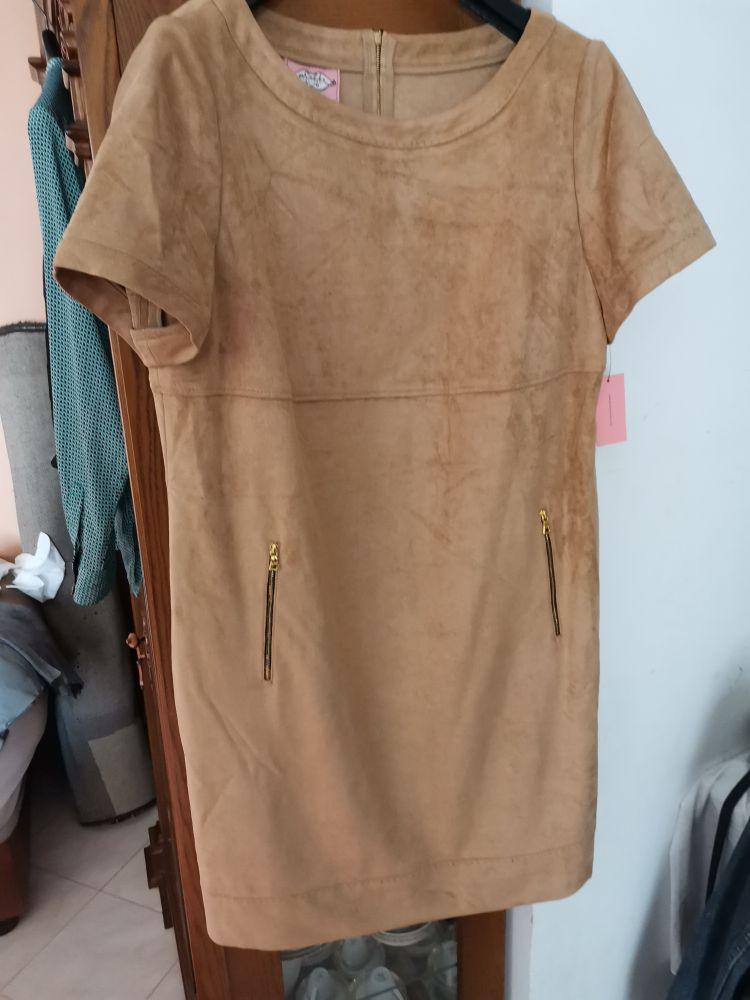 Robe en faux daim extensible phoebe