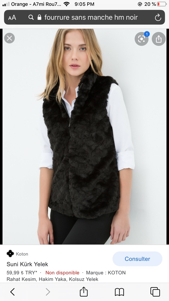 Gilet forrure H&M