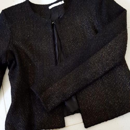 Veste noire et bronze