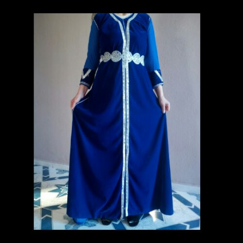 Caftan bleu roi
