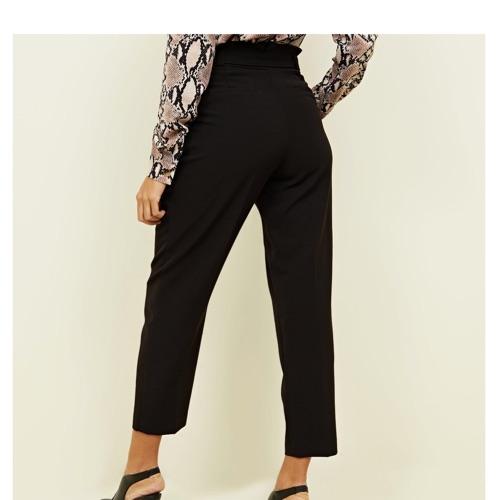 Pantalon noir avec noeud new look