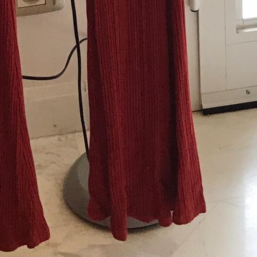 Legging rouge orange moulant Bershka