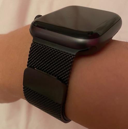 Bracelet noir pour Apple Watch (44mm) très bonne imitation du modele Milano d'Apple