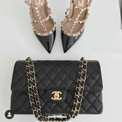 Lot black sac copie chanel et ballerine mmodèle valentino