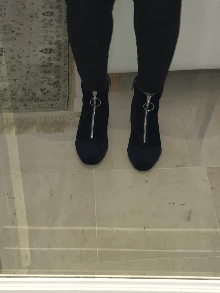 Bottines velour bleu neuves
