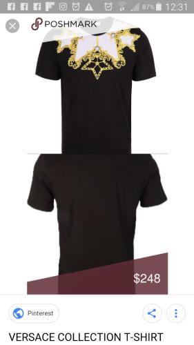 T shirt versace homme neuf