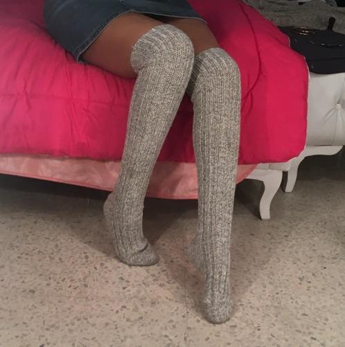 Chausettes collant en laine importé