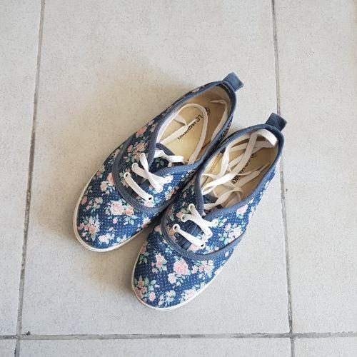 Espadrilles fleuries bleue