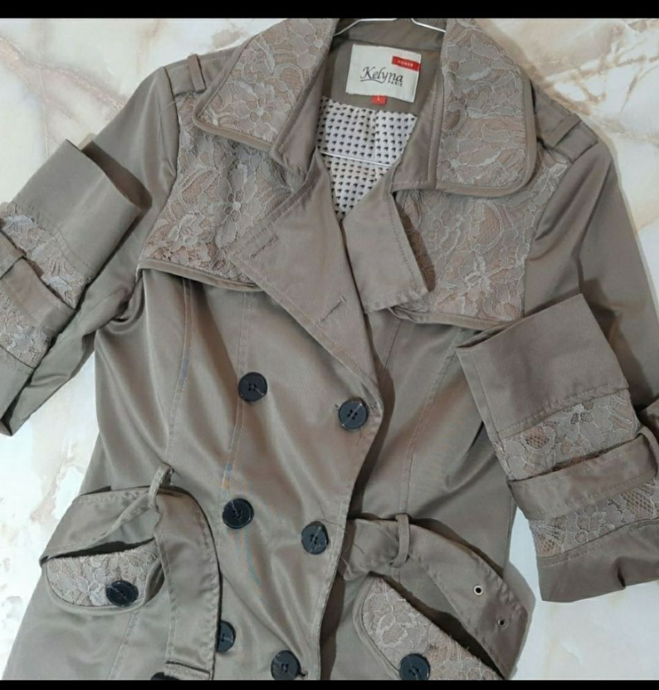 Trench coat satiné