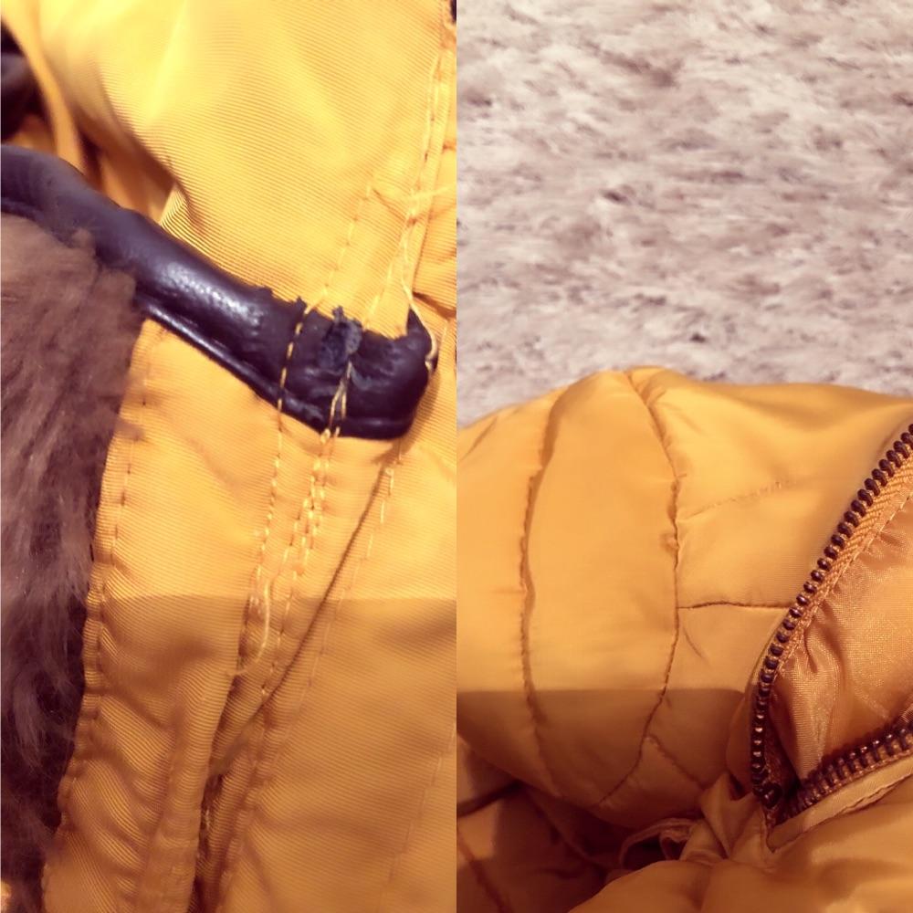 Doudoune ZARA avec col fourrure et capuche démontable