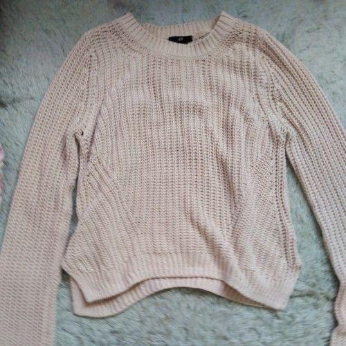 Knit sweater h&m rose poudré