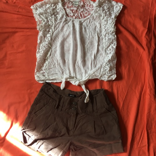 Je vide: short+crop top trooop chic
