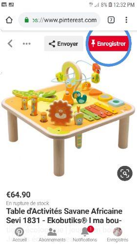 Table de jeux et d'activités