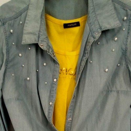 Chemise. Jean avec perles