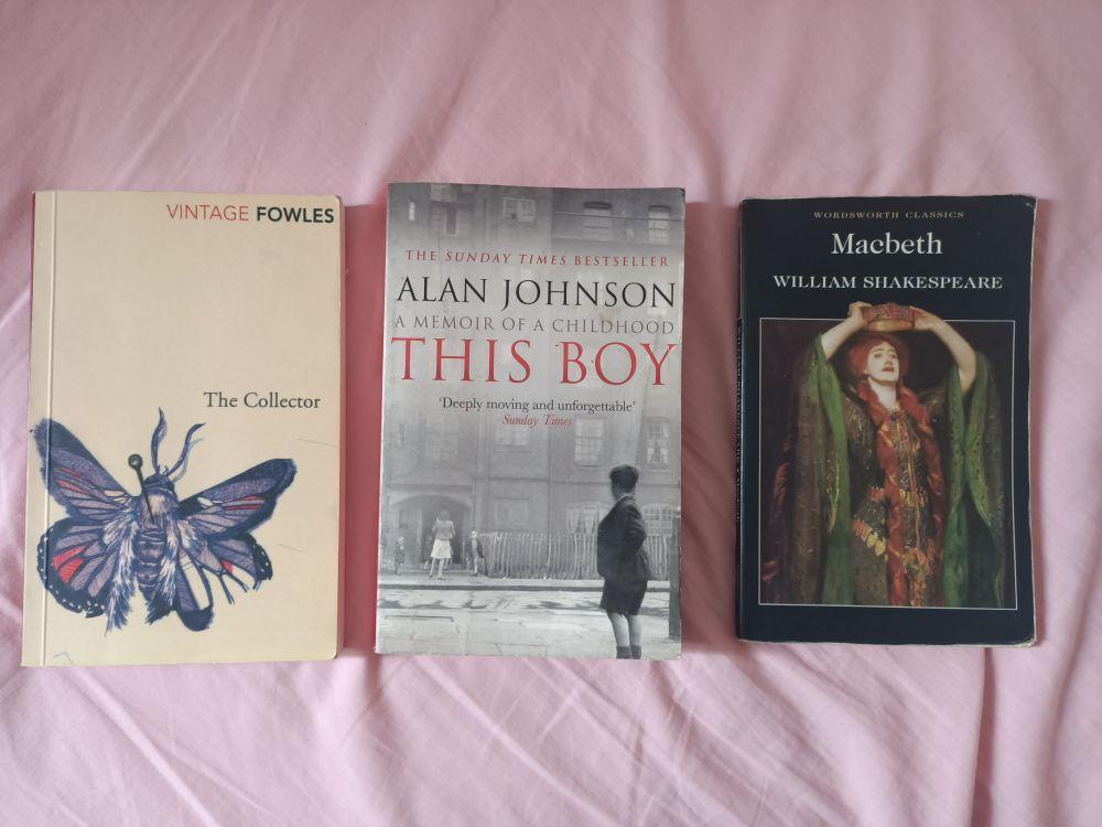 3 livres anglais