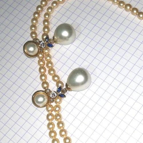 Collier et boucles d'oreilles en perles de cristian lay garantie