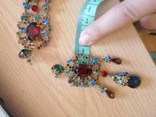 GRANDES Boucles d'oreilles en swarovsky multicolores habillees