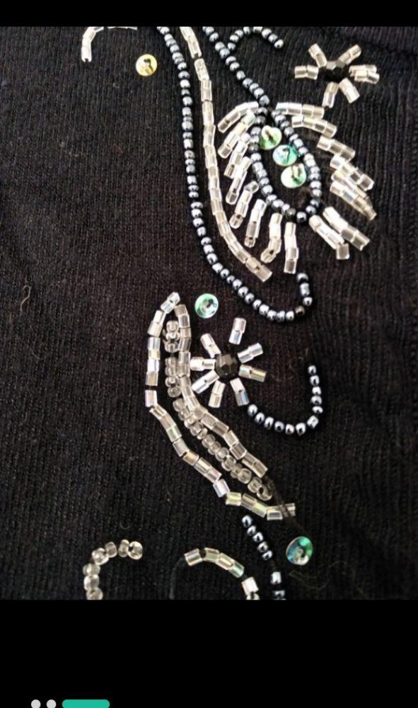 Bolero en laine brodé